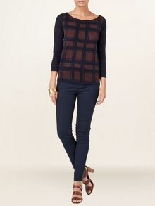 Chloe check jumper