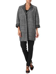 Cecilia collarless coat