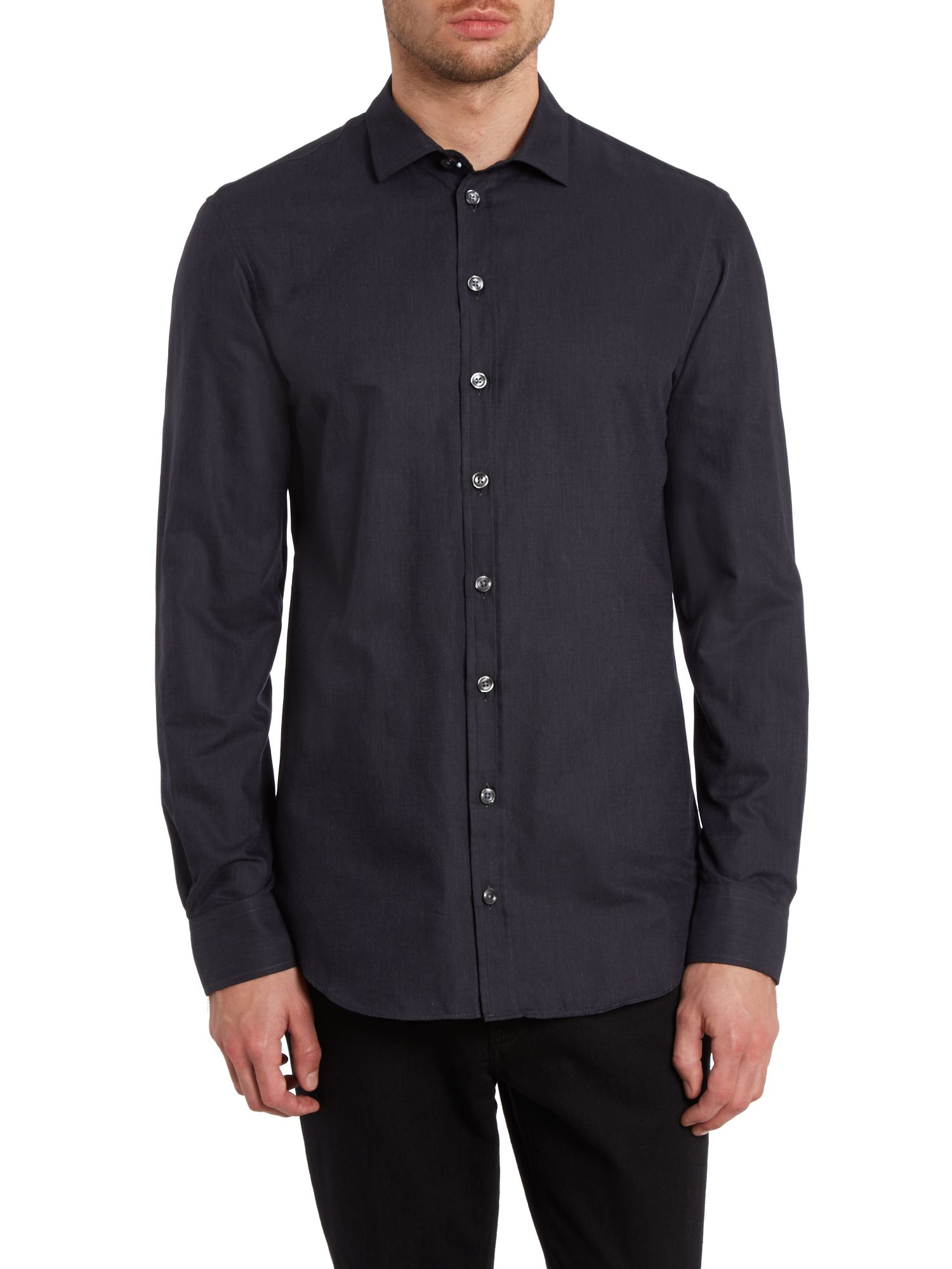 Sheen slim fit cut away collar shirt