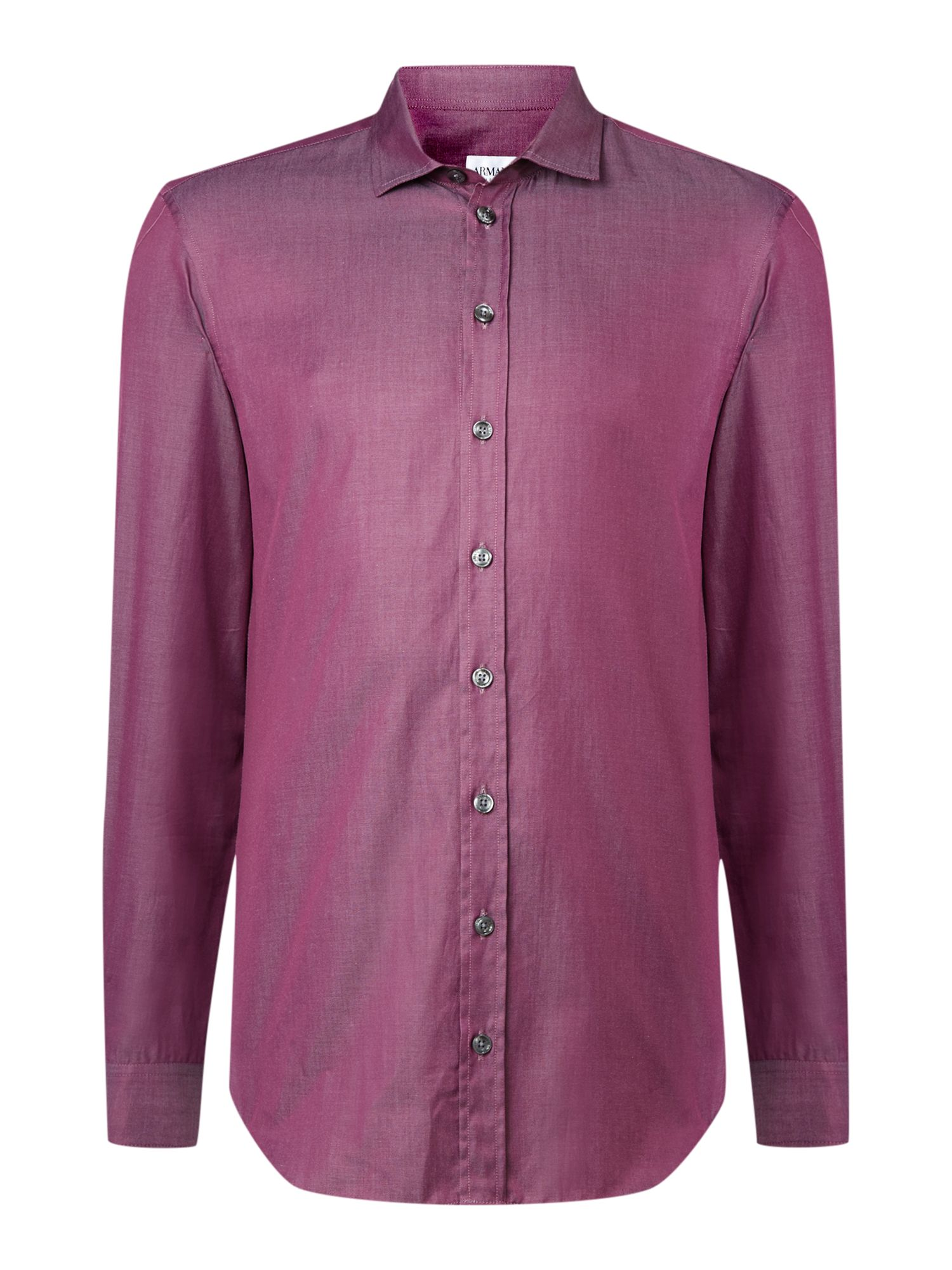 Marl slim fit cut away collar shirt