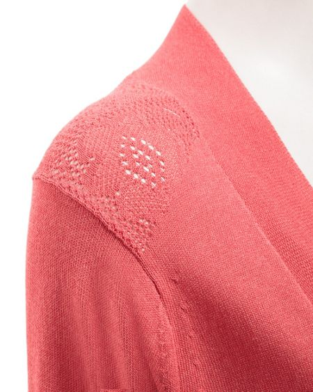 East Lace pointelle cardigan