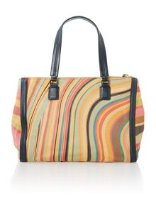 Swirl multi zip tote bag