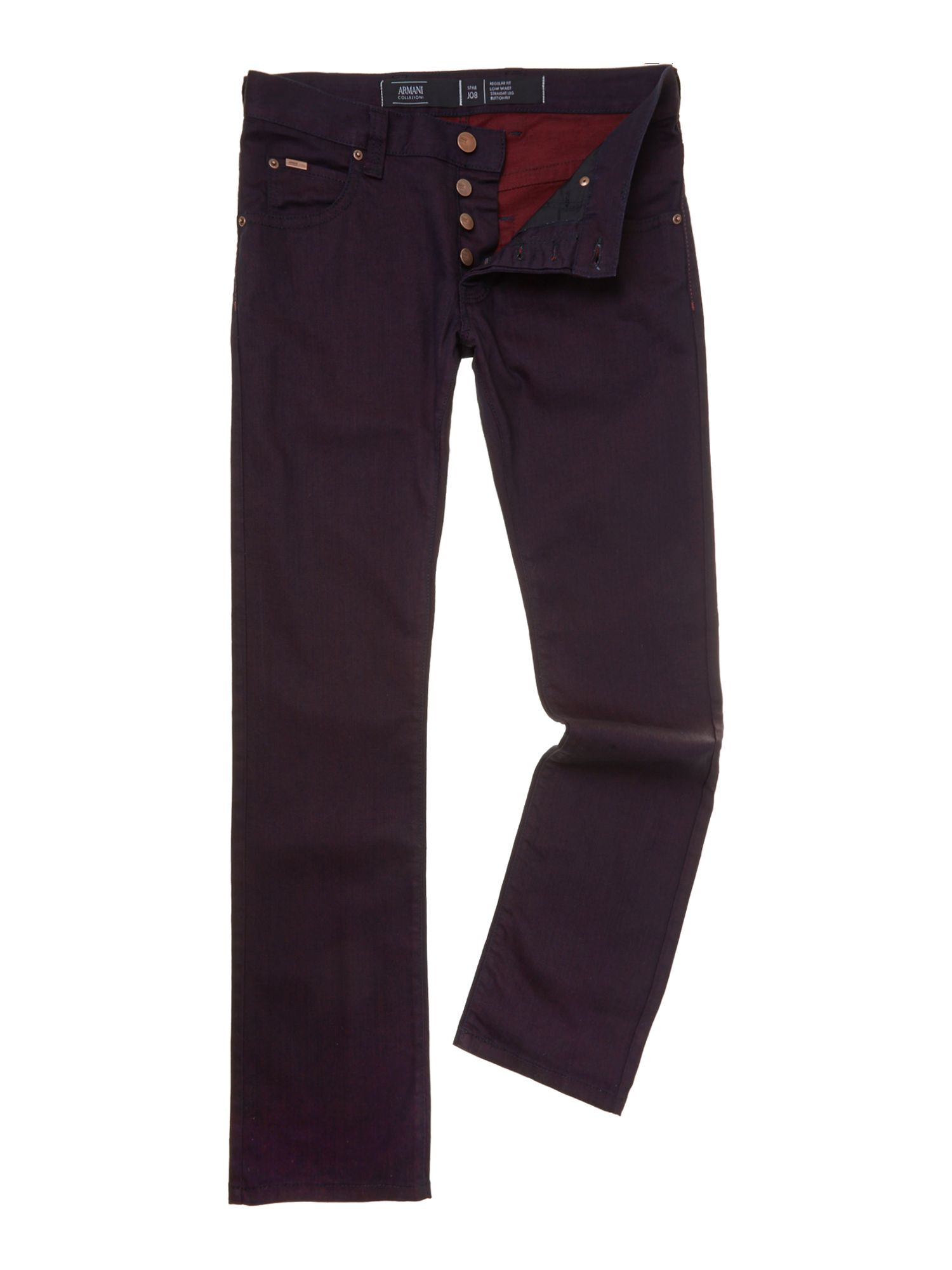 Two tone slim fit jeans