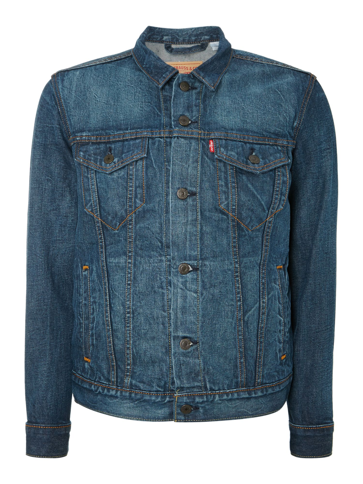 Light wash four pocket denim jacket