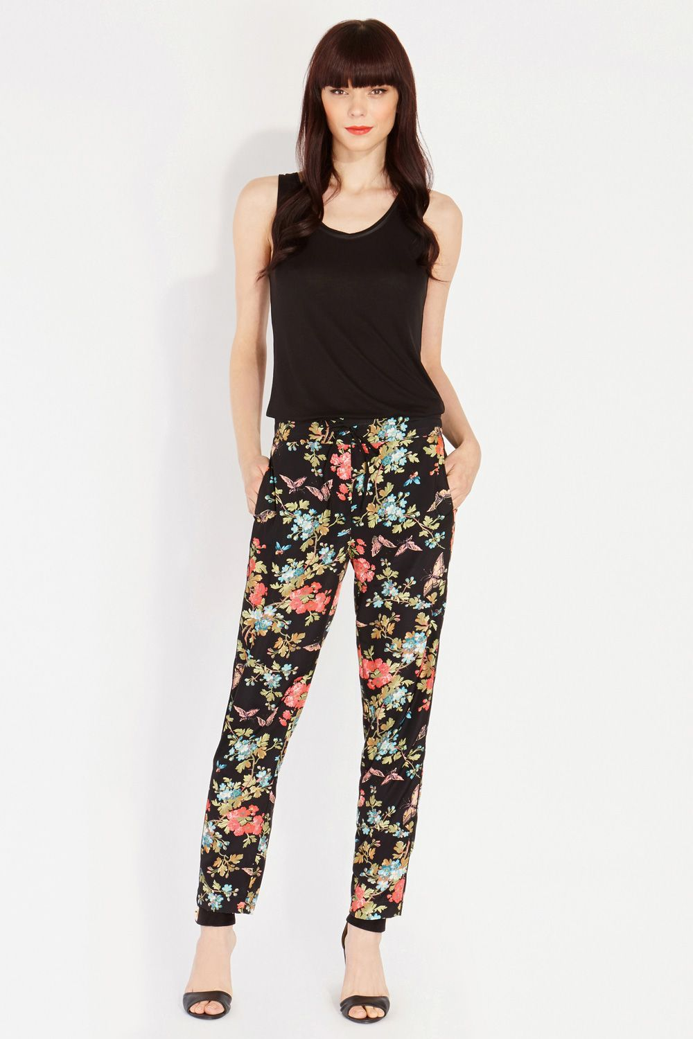 Butterfly blossom soft trousers