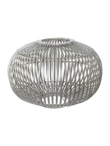 Small Zep Pendent Lightshade in bamboo silver