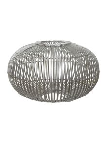Large Zep Pendent Lightshade in bamboo silver