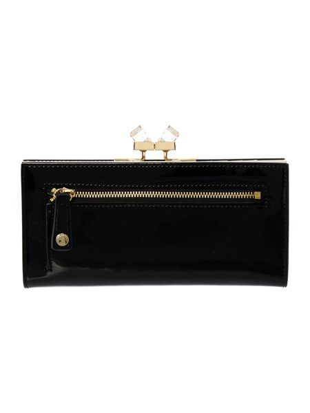 Ted Baker Black large patent crystal matinee