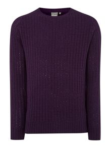 Tucker tuck stitch crew neck knitwear