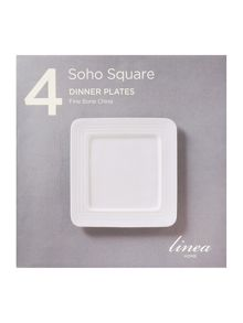 Linea Soho square dinner plate set of 4