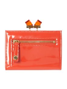 Orange small patent crystal matinee