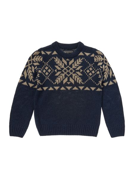 Howick Junior Boys snowflake knit jumper