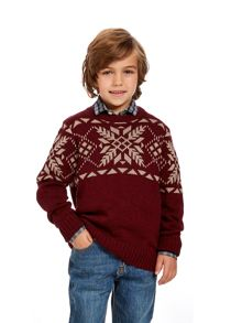 Boys snowflake knit jumper