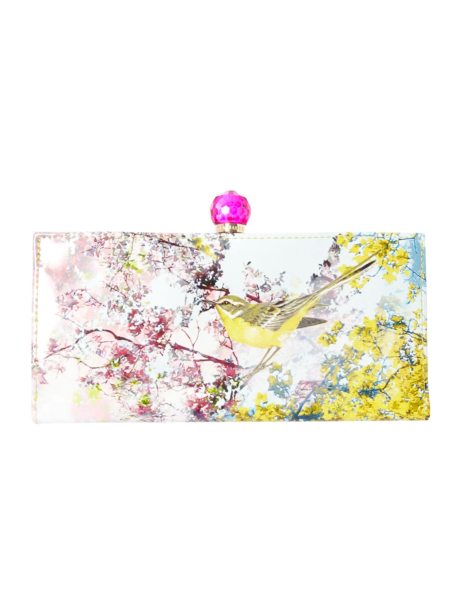 Multi-coloured pretty trees print matinee purse