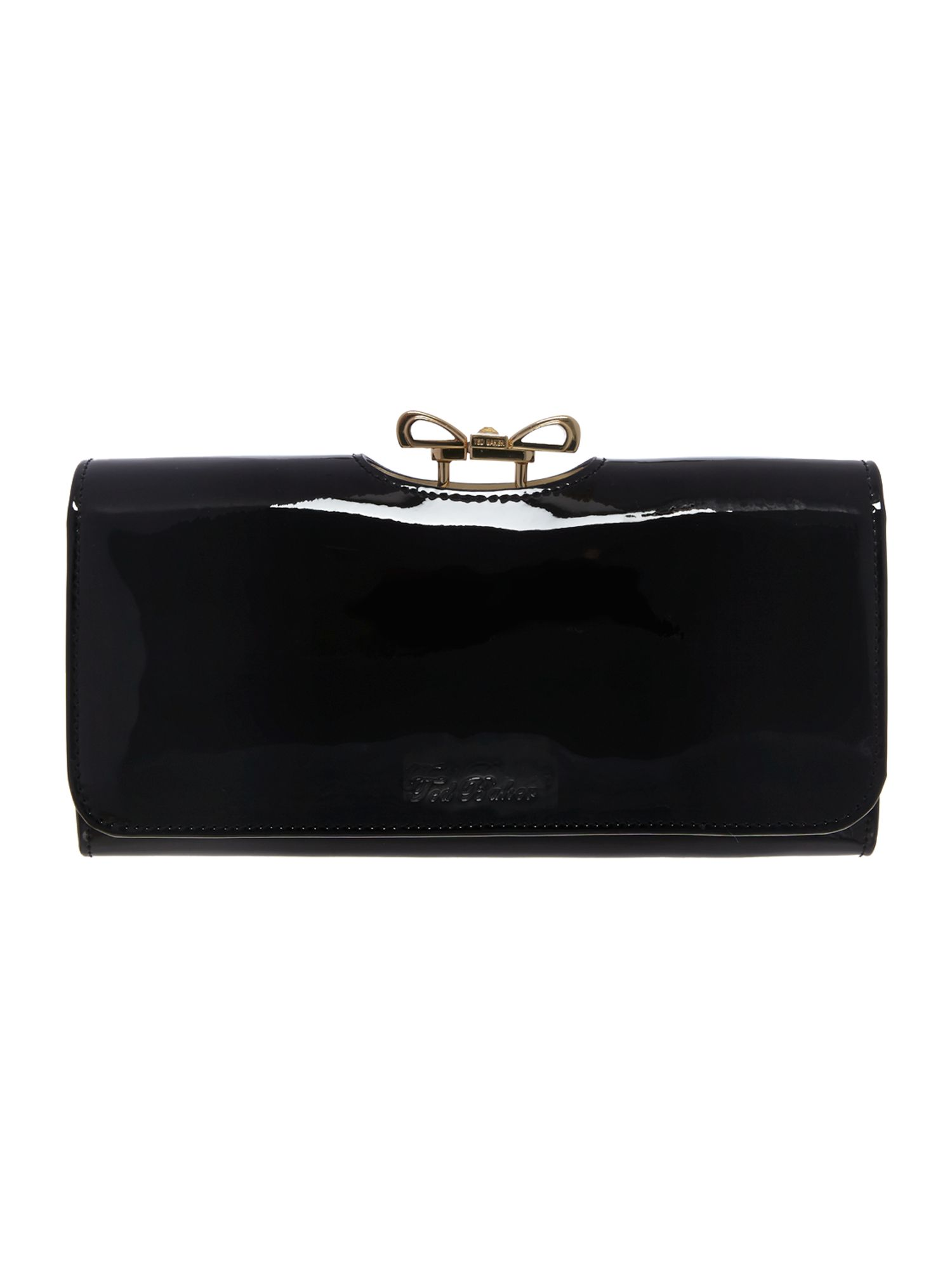 Ted Baker Black large crystal bobble flapover purse Black