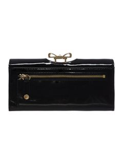 Ted Baker Black large crystal bobble flapover purse