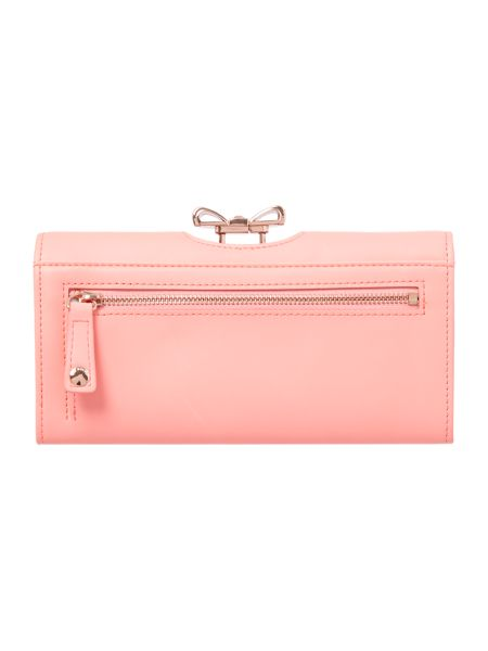 Ted Baker Coral crystal bow leather matinee purse
