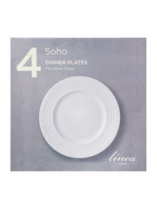 Soho dinner plate set of 4