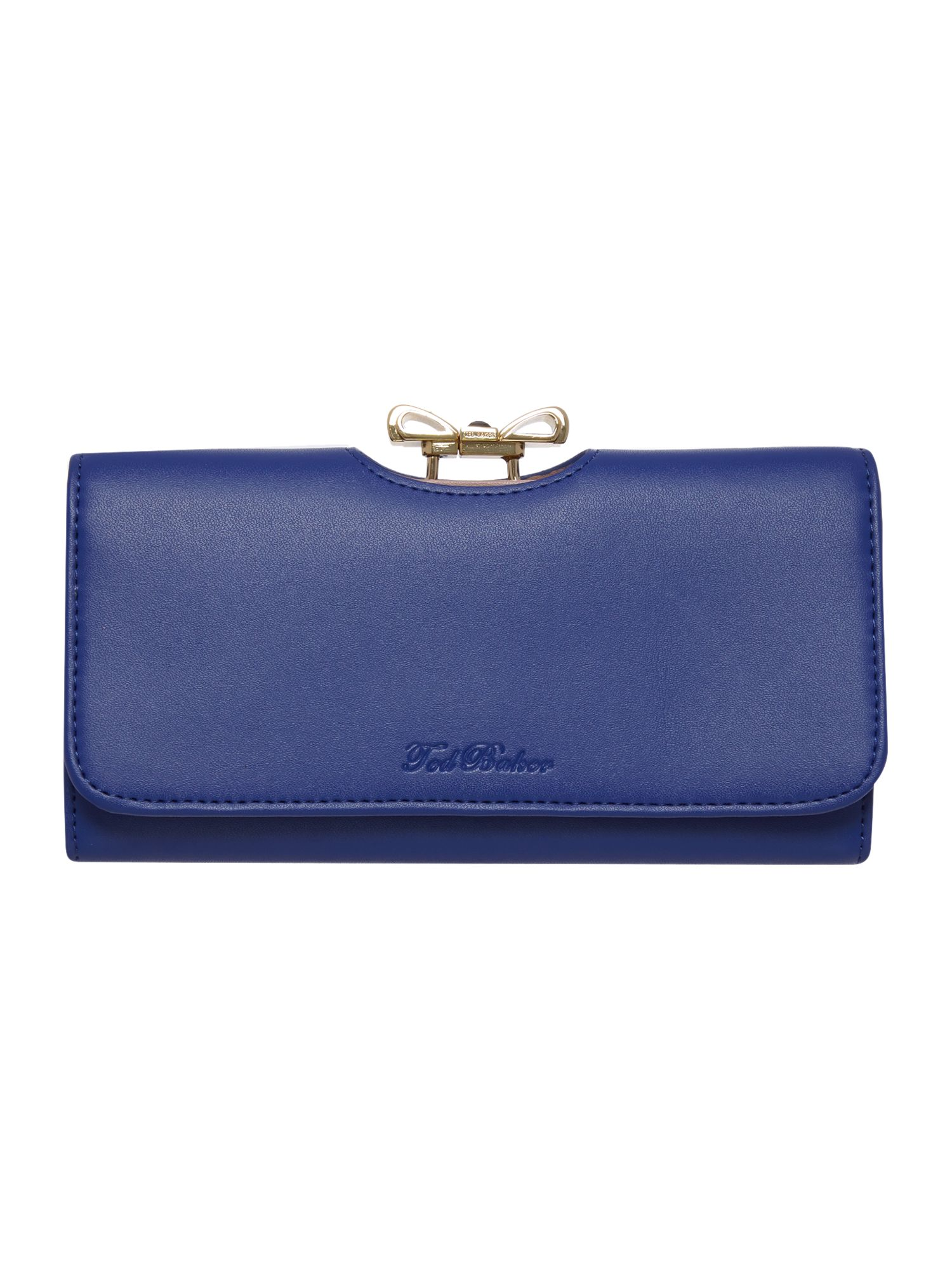 Clue crystal bow leather matinee purse