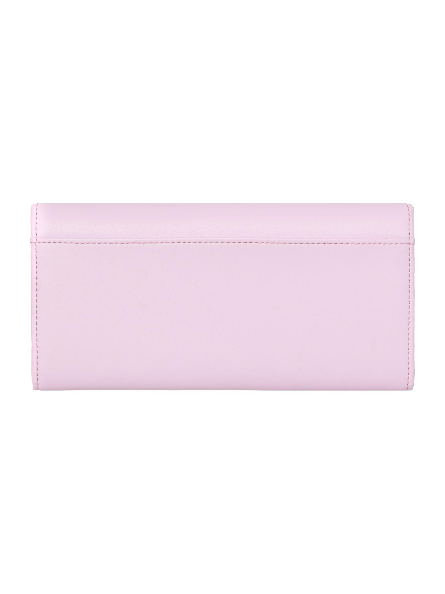 Pale pink metal bar matinee flapover purse