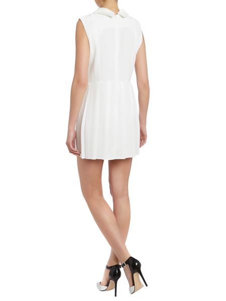 John Zack Lace collar fit and flare dress