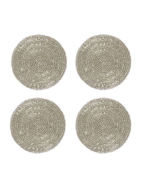 Linea Set of 4 Silver Halo Coasters