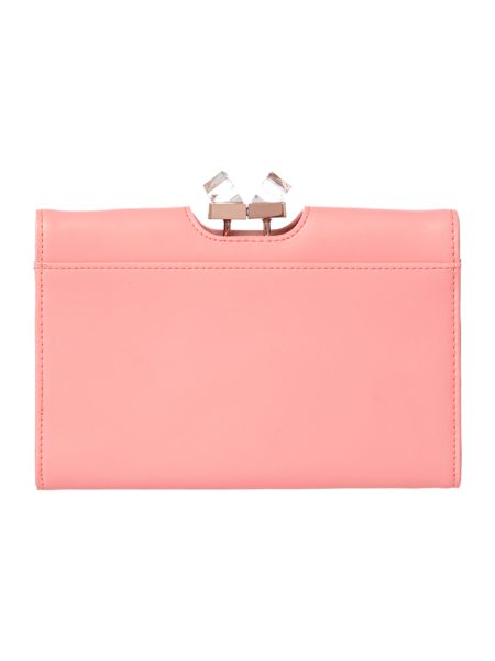 Ted Baker Coral crystal frame cross body purse