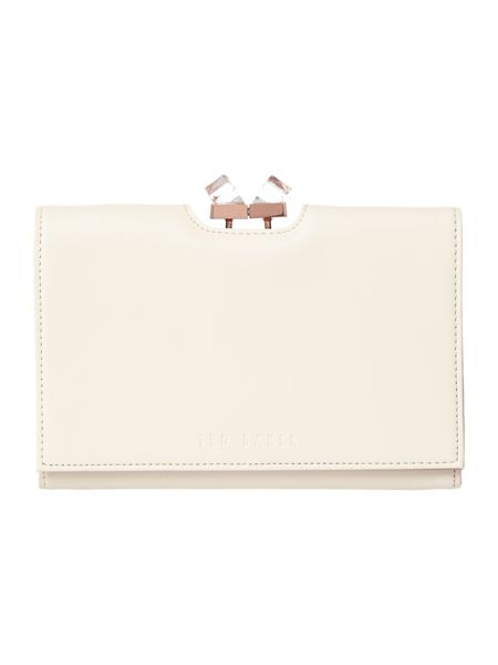 Ted Baker Natural crystal frame cross body purse