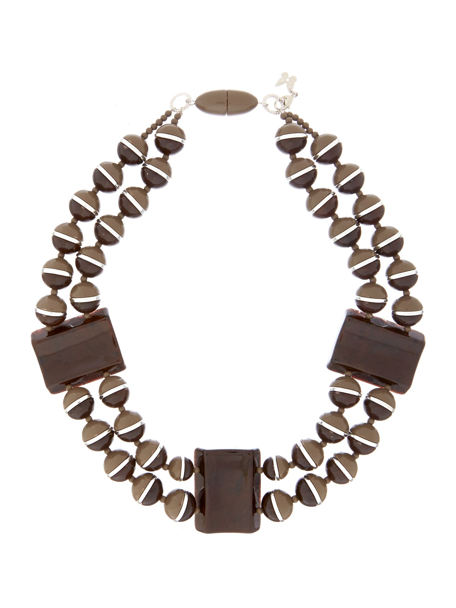 Eolo short beaded necklace