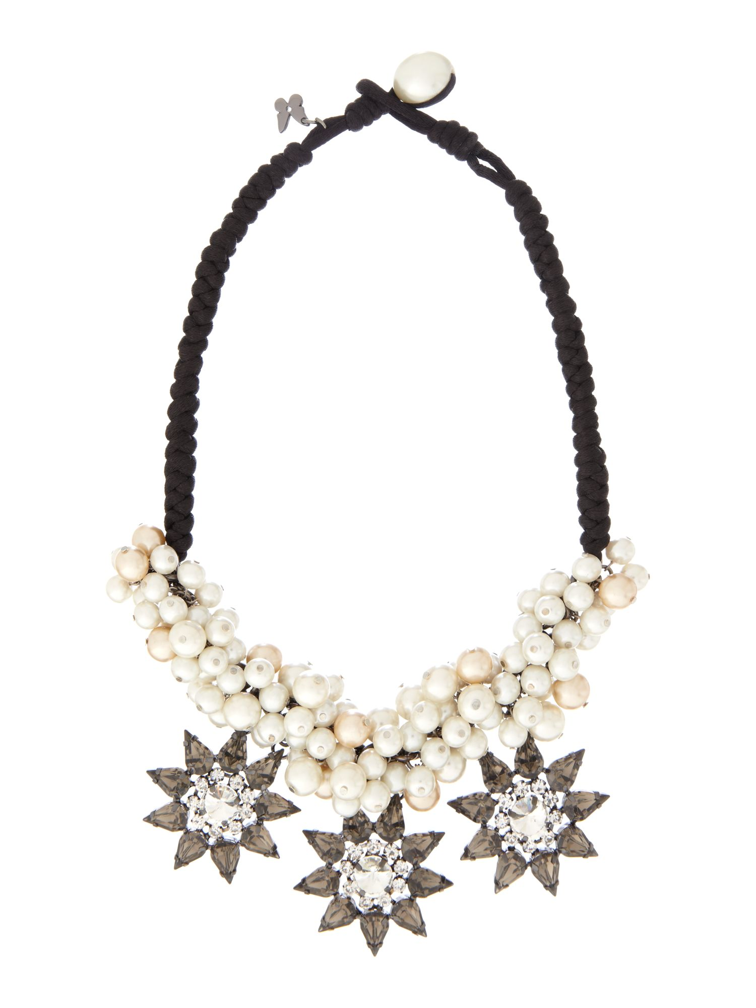 Cambio pearl and diamante star necklace