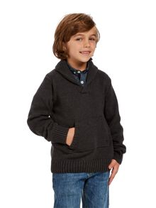 Boys pocket knit jumper