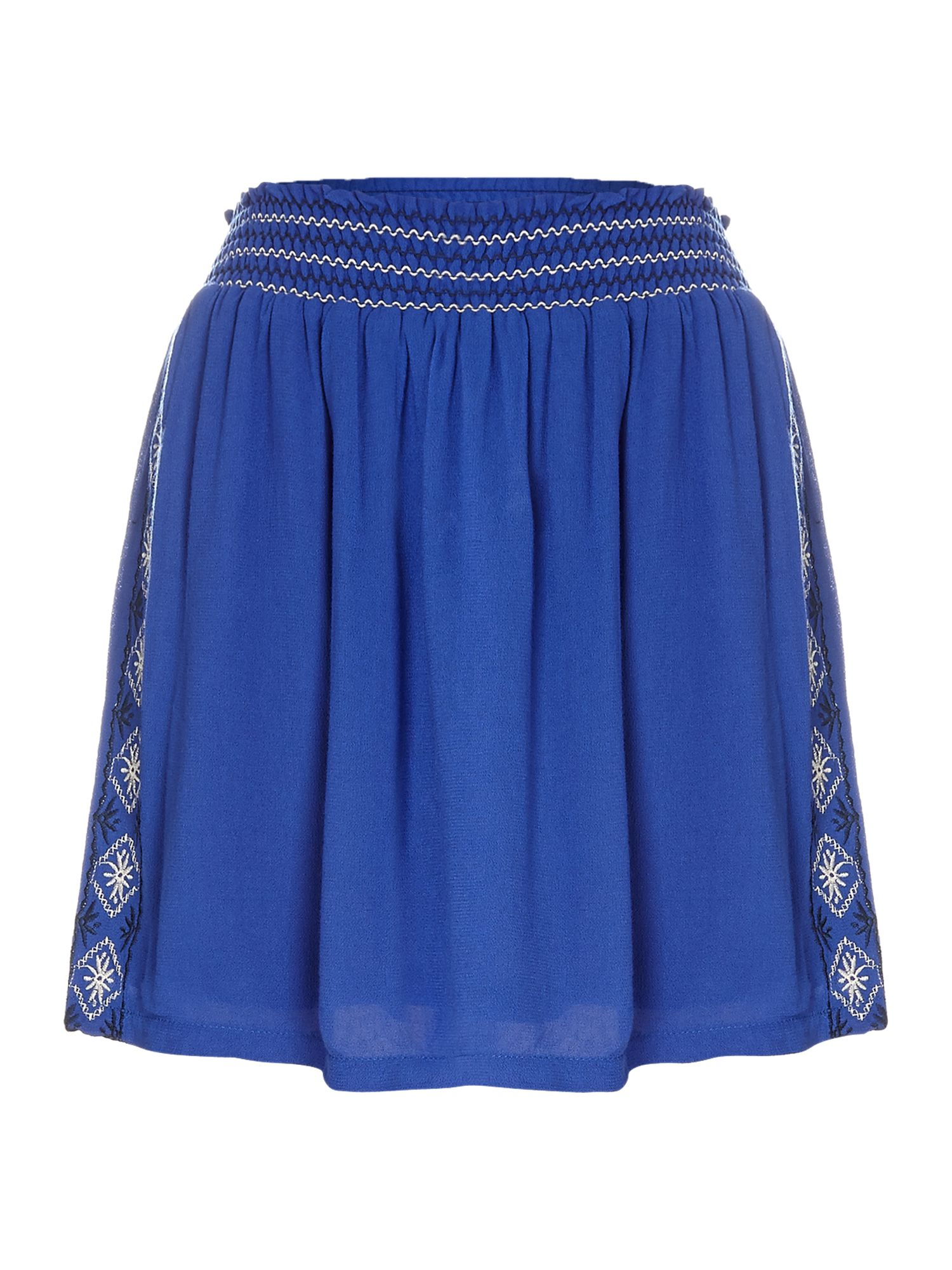 Embroidered detail mini skirt