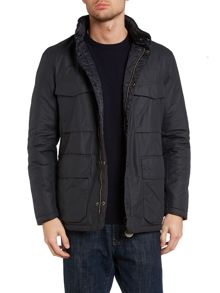 Quilted bedley field jacket