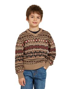 Boys fairisle knitted jumper