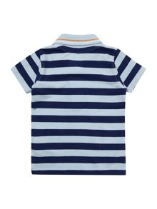 Boys stripe polo shirt with badge