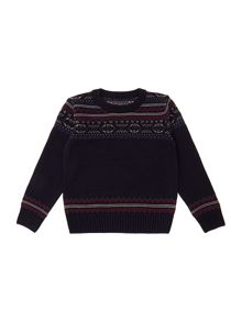 Boys fairisle panel jumper