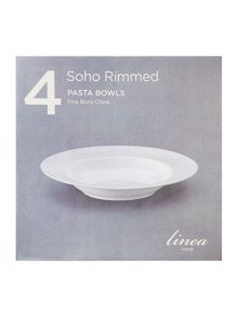 Linea Soho rimmed pasta bowl set of 4