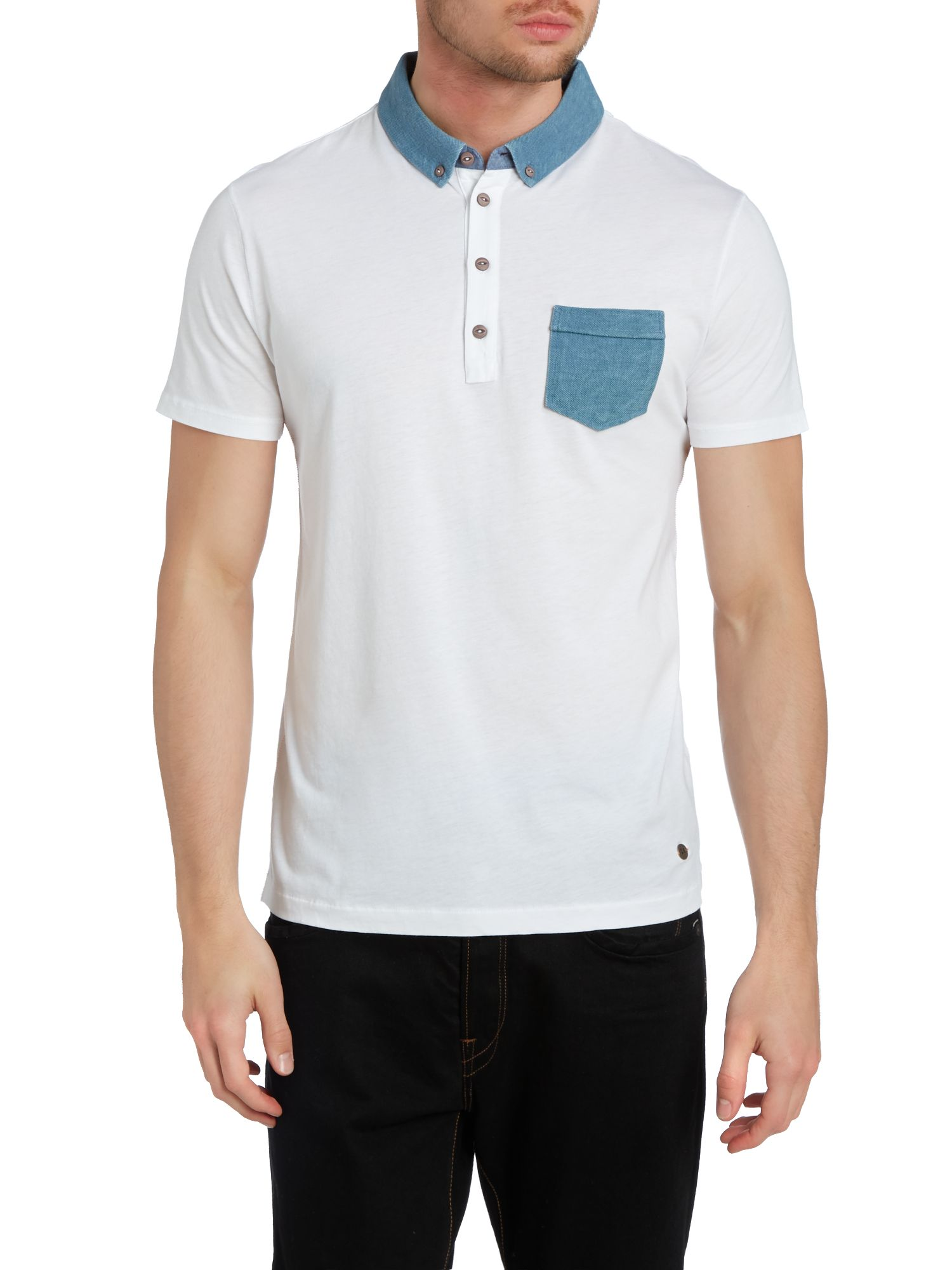 Pique collar polo shirt