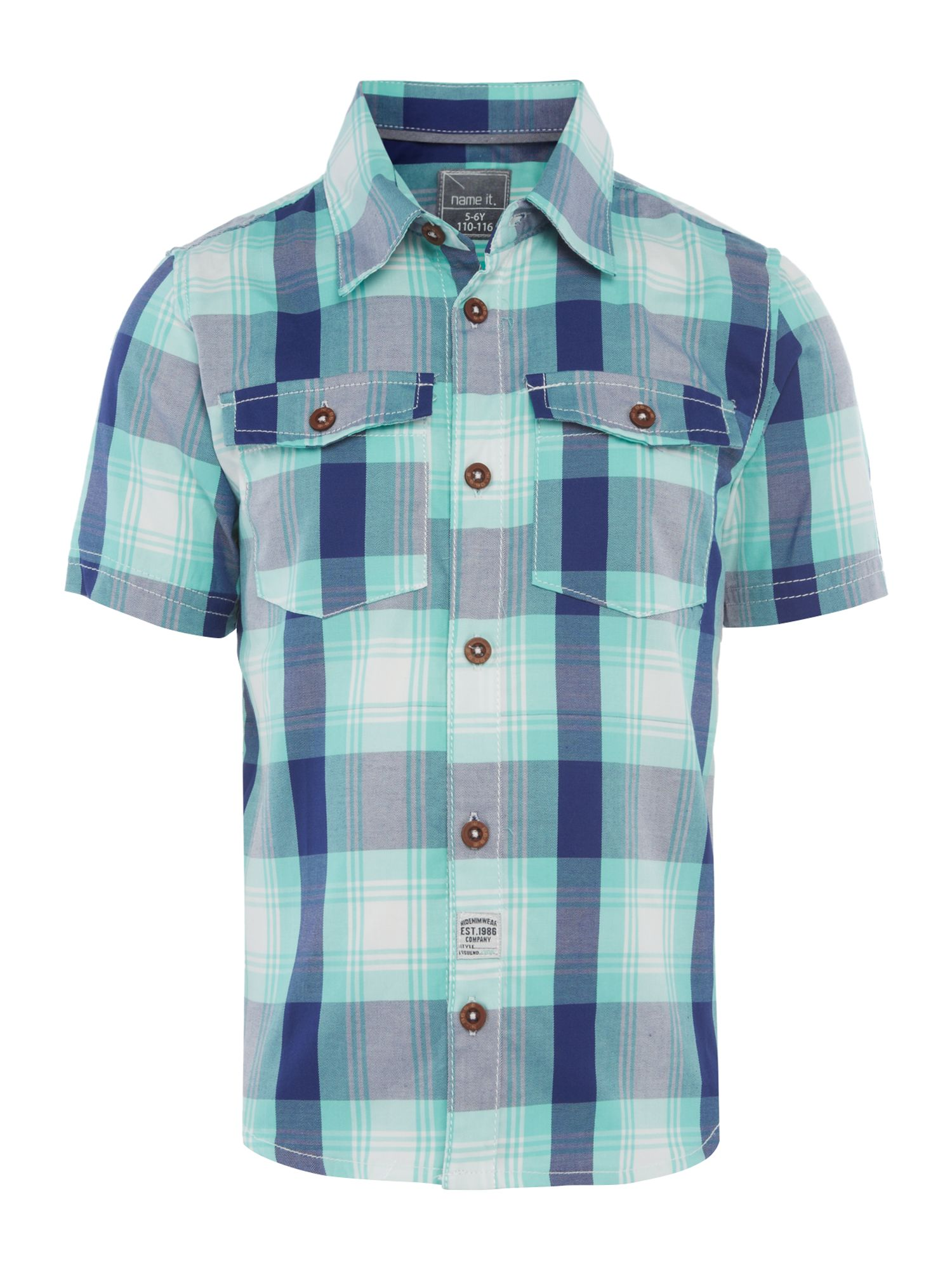 Boys check shirt with pockets