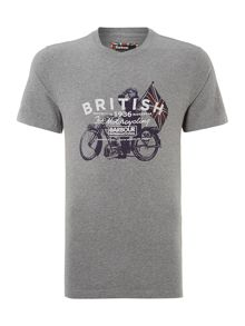 International morton motorcycle print tee