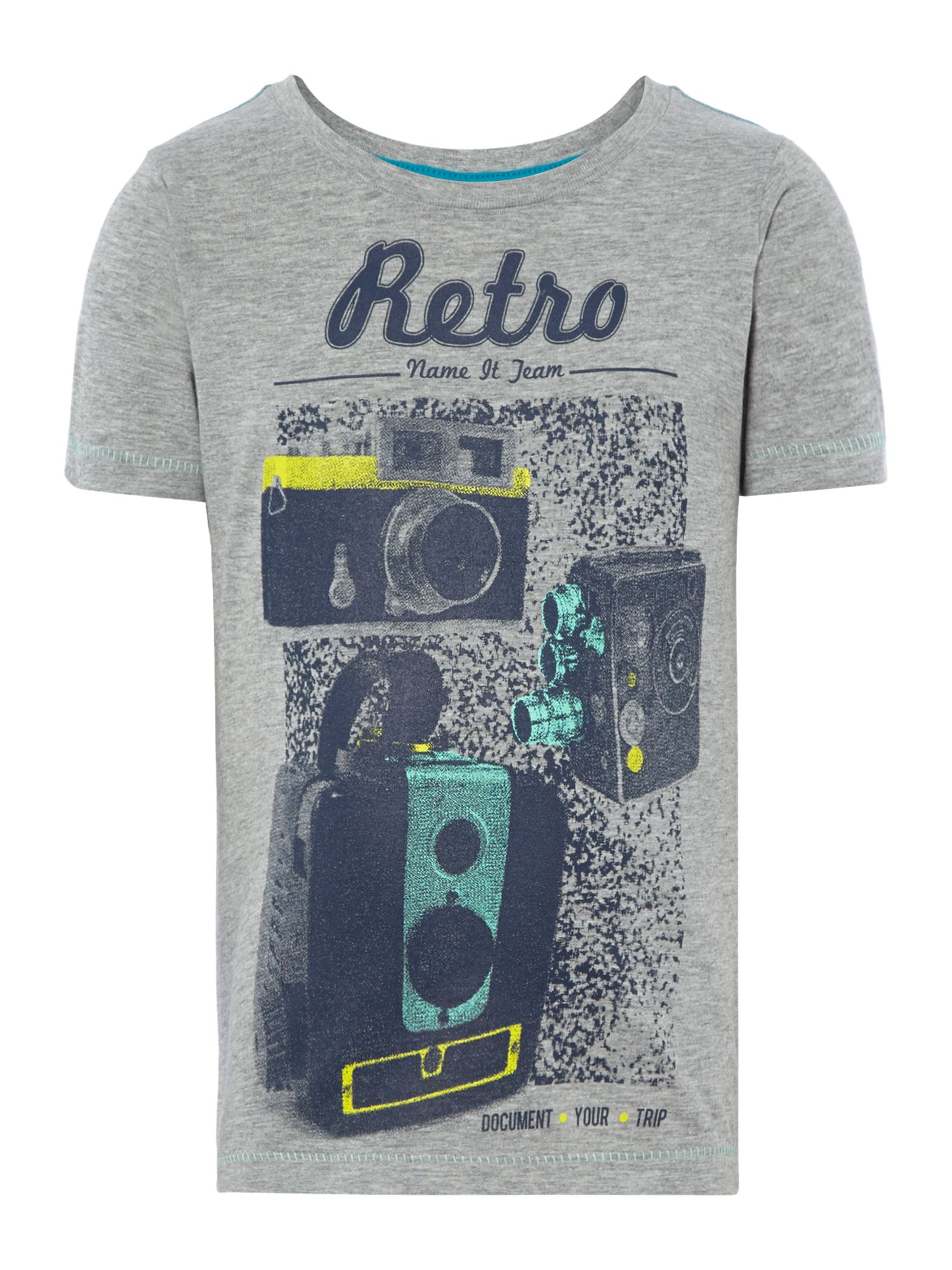 Boys retro camera print t-shirt