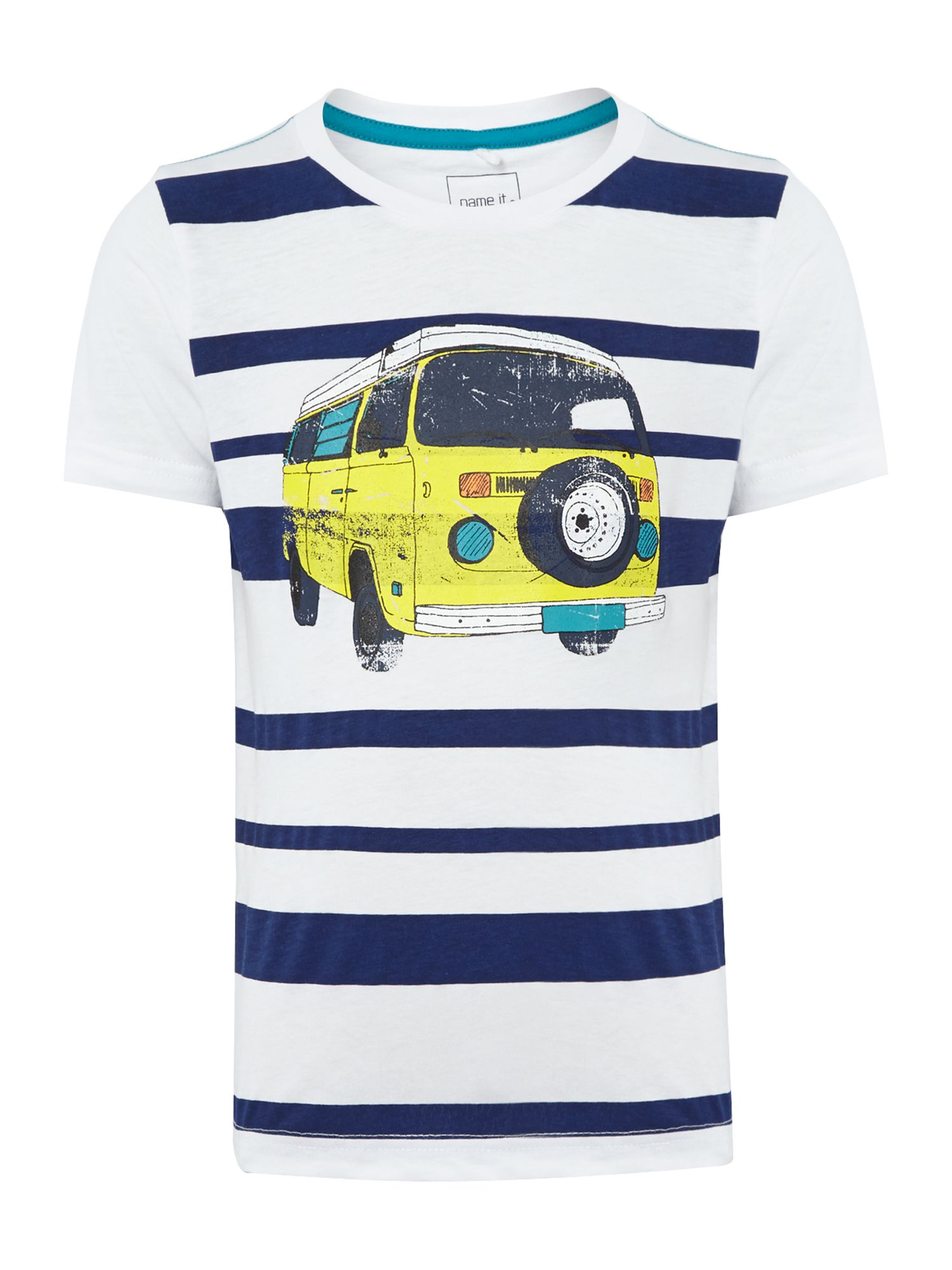 Boys stripe camper t-shirt