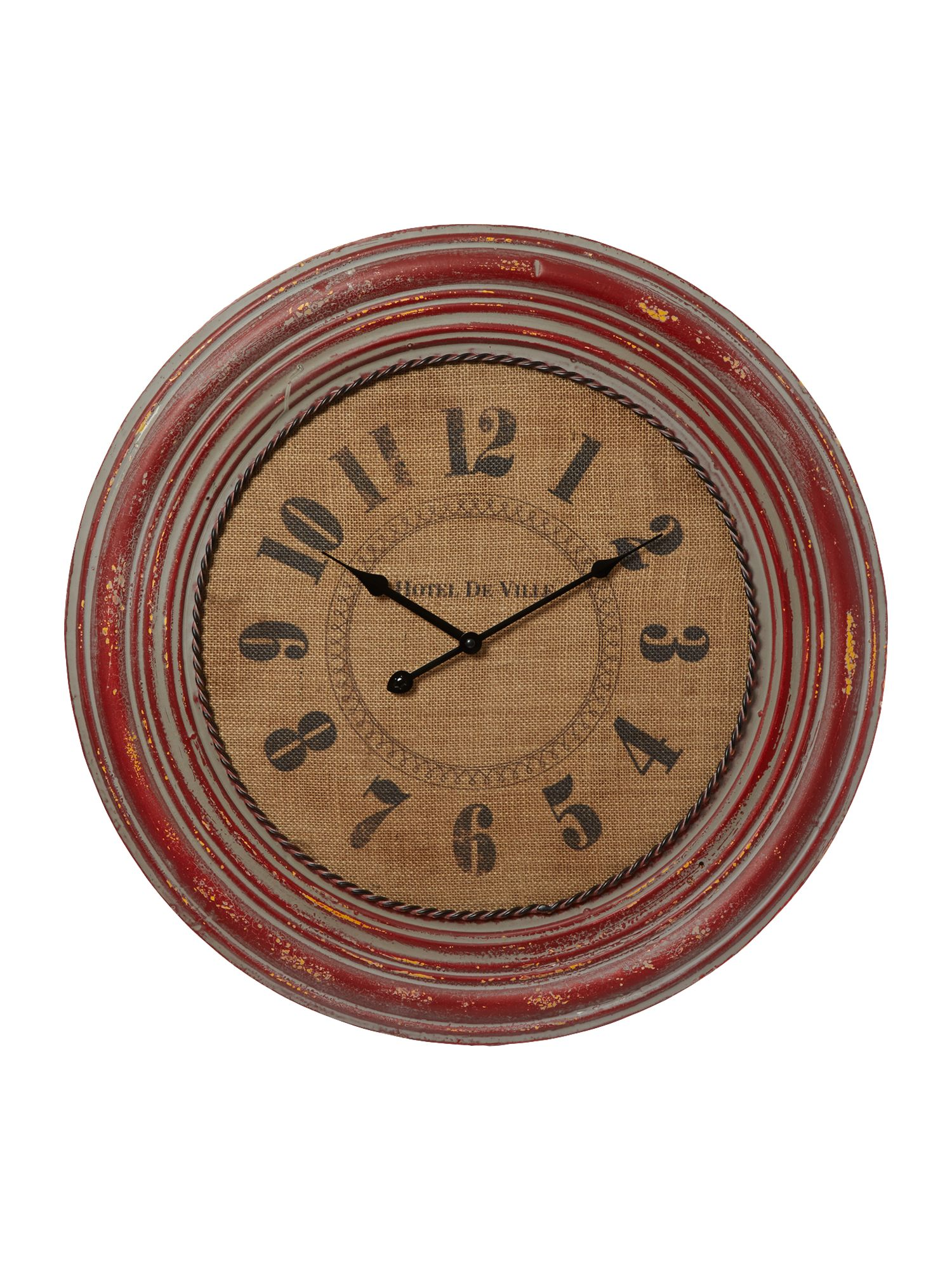 Red henley wall clock