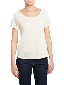 Lace back t-shirt