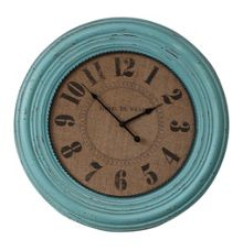 Teal henley wall clock