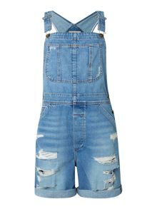 The Shortall dungarees in tattered destroy