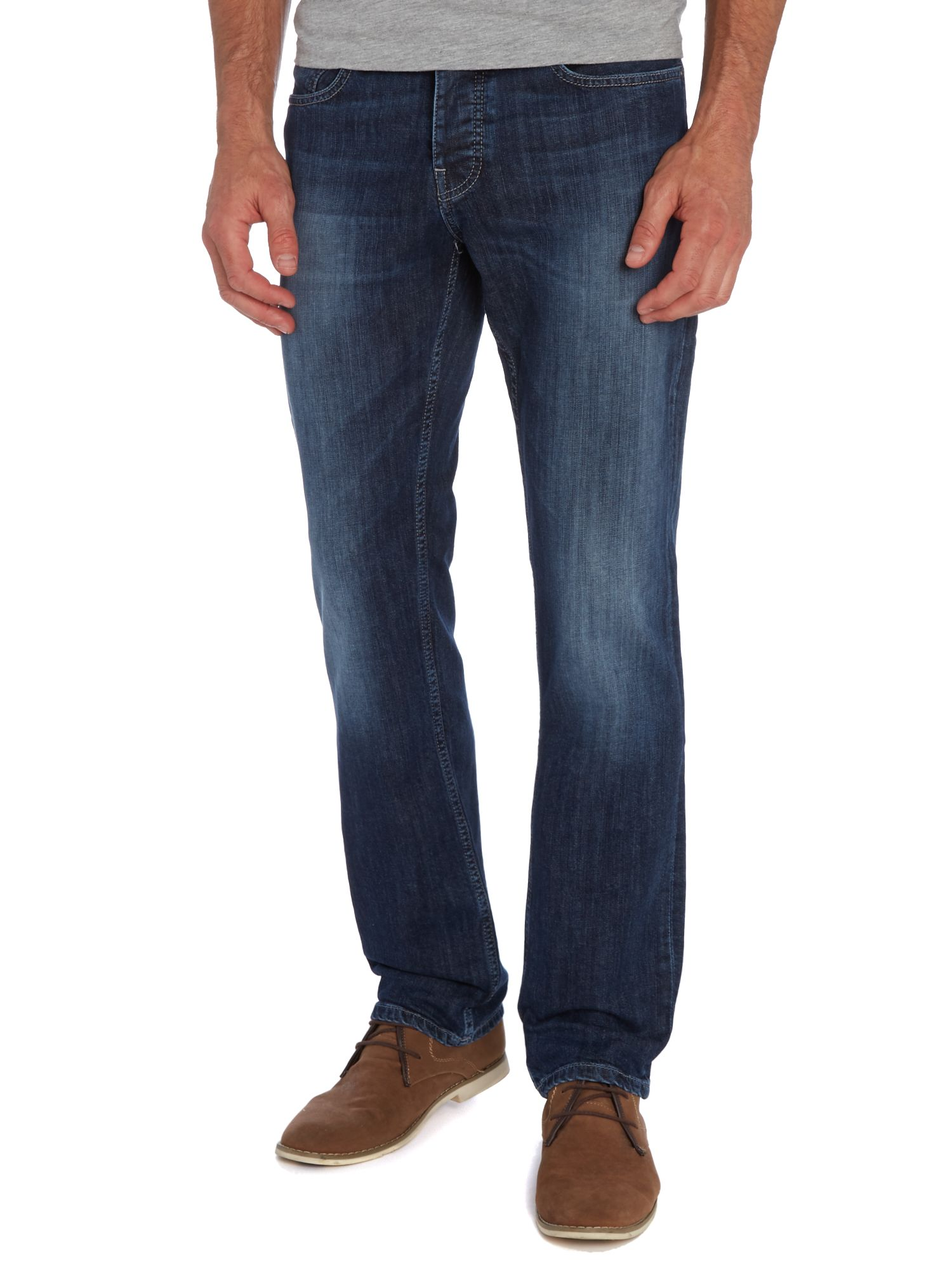 Orange 25 mid wash regular straight jean