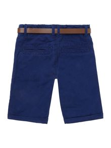 Boys chino short with belt