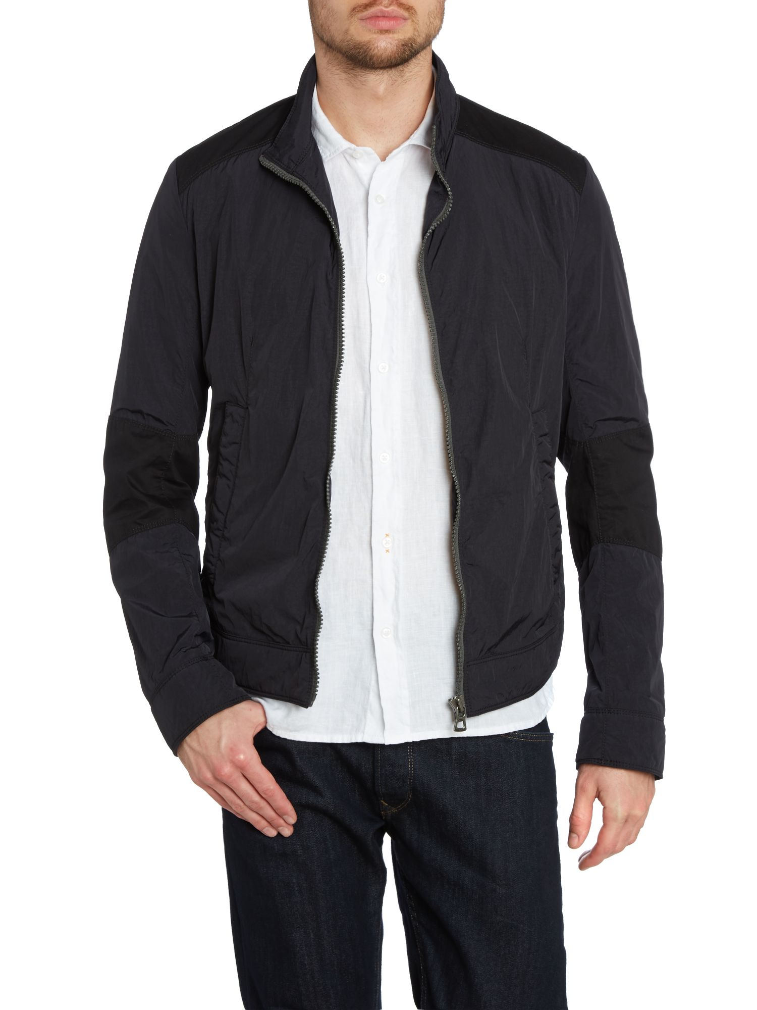 Nylon zip up jacket
