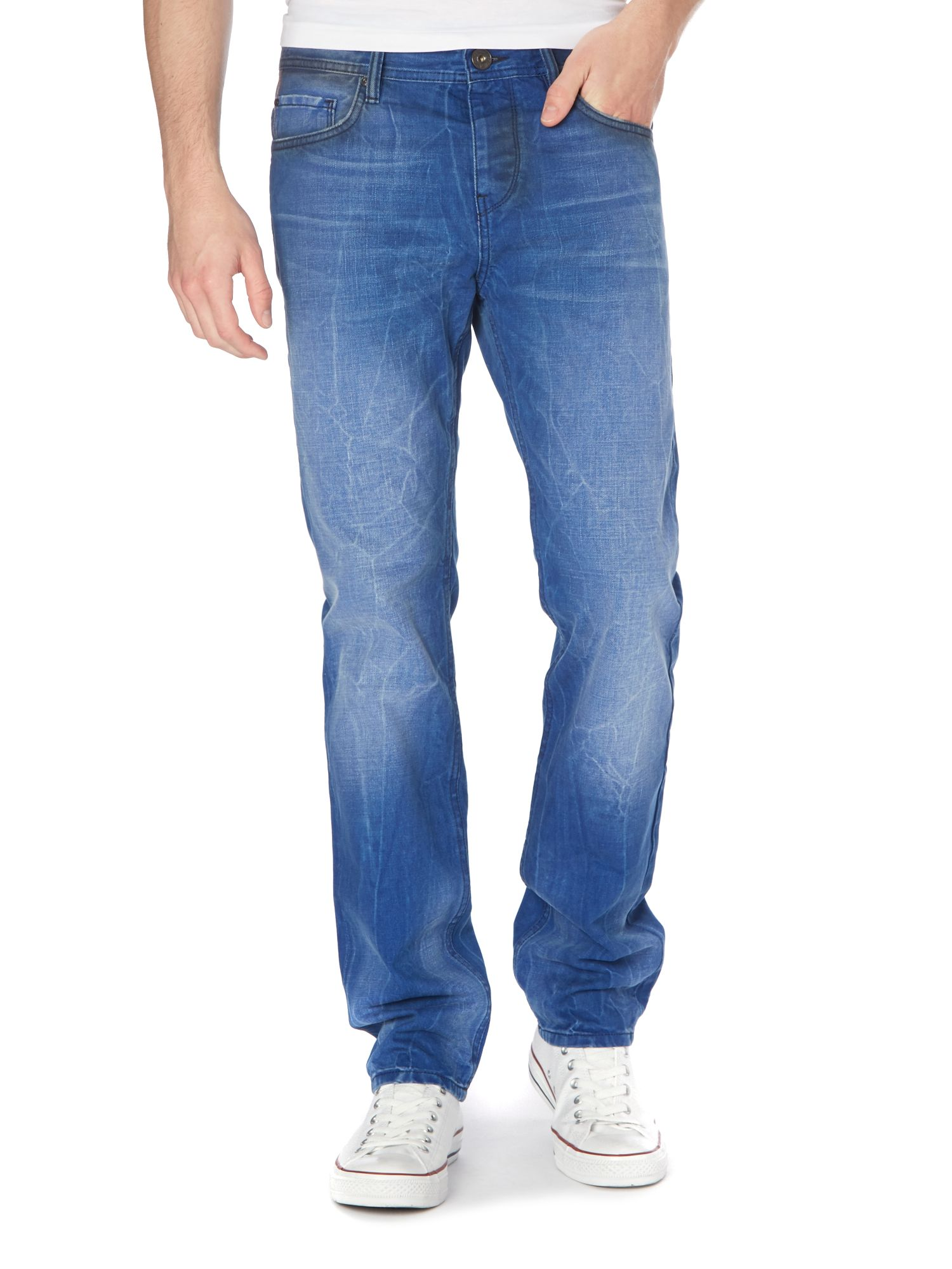 Orange 90 contrast wash regular tapered jean